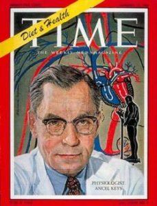 アンセル・キーズ博士は7ヶ国研究による成果でTime誌の表紙を飾り「Mr.コレステロール」と呼ばれた