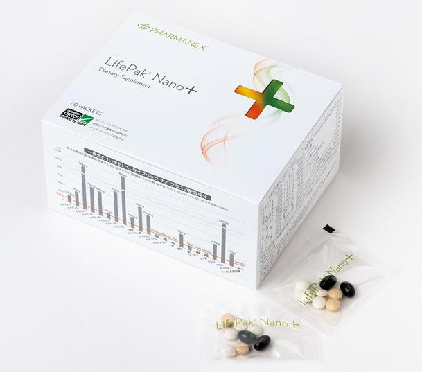 「ライフパック ナノ プラス」は厳選された成分がからだの中で働くための「体内インベスト設計」を採用